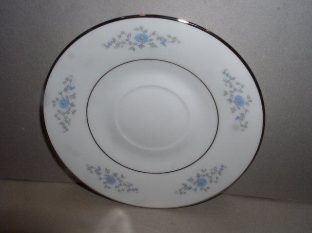 Make sure your browser can show photos and reload this page to see Oxford (Div Of Lenox) China Foxcroft Saucer only