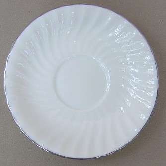 Make sure your browser can show photos and reload this page to see Aynsley & Sons Purity Saucer only 5 1/2