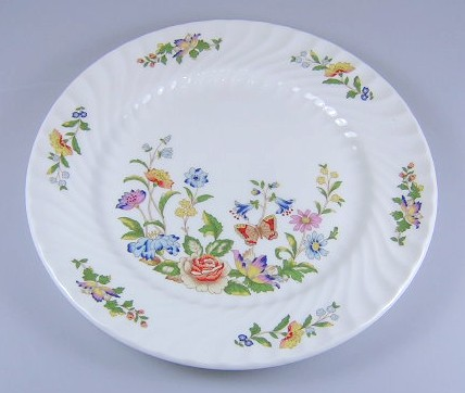 Make sure your browser can show photos and reload this page to see Aynsley & Sons Cottage Garden (Swirl) Salad plate 8 3/8