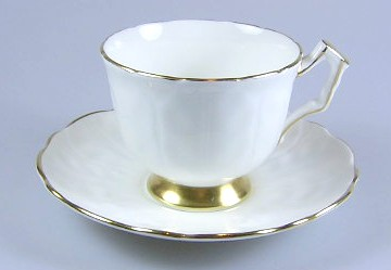 Make sure your browser can show photos and reload this page to see Aynsley & Sons Golden Crocus (Coupe) Cup and saucer set 3 1/4