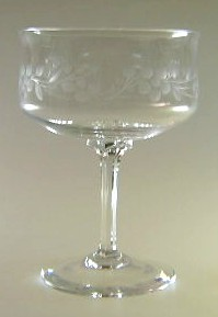 Make sure your browser can show photos and reload this page to see Lenox Crystal Spring Frost Sherbet tall/champagne 5
