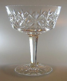 Make sure your browser can show photos and reload this page to see Royal Doulton Crystal Sherbrooke Champagne 4 5/8