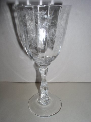Make sure your browser can show photos and reload this page to see Lenox Crystal Navarre Goblet, water  -7 3/4