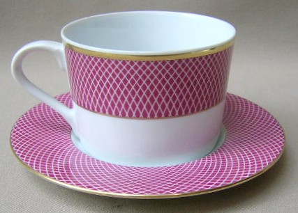 Make sure your browser can show photos and reload this page to see Block China Sunset Cup and saucer set 2 1/2