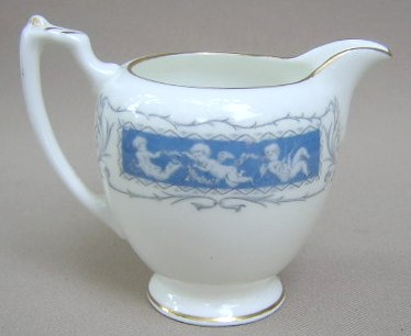 Make sure your browser can show photos and reload this page to see Coalport China Revelry - Blue, Gold Trim  Creamer