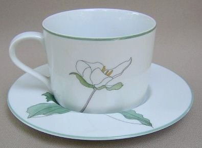 Make sure your browser can show photos and reload this page to see Block China Trillium - Watercolors Cup and saucer set 2 1/2
