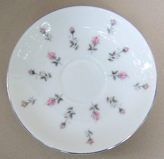 Make sure your browser can show photos and reload this page to see Harmony House China Rosebud 3534 Saucer only 5 3/4
