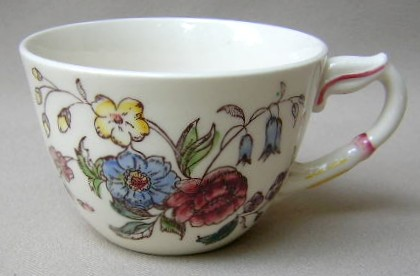 Make sure your browser can show photos and reload this page to see Metlox-Poppytrail-Vernon Pottery May Flower Cup only (no saucer) 2 1/2