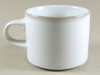 Make sure your browser can show photos and reload this page to see Dansk China Allegro - Taupe Cup only (no saucer) 2 3/4