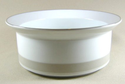 Make sure your browser can show photos and reload this page to see Dansk China Allegro - Taupe Round vegetable  7 3/4