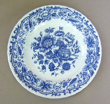 Make sure your browser can show photos and reload this page to see Ridgway (Ridgway's) Pottery Clifton-Blue & White  Bread and butter plate 6 1/4