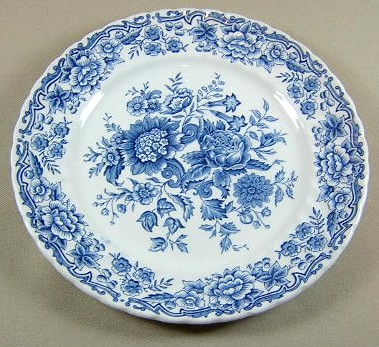 Make sure your browser can show photos and reload this page to see Ridgway (Ridgway's) Pottery Clifton-Blue & White  Salad plate 7 5/8