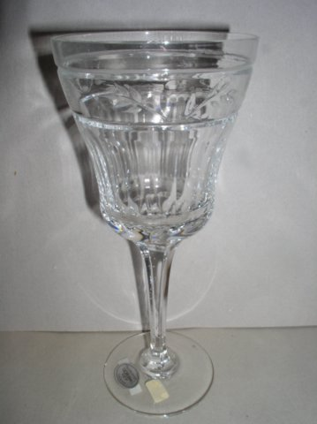 Make sure your browser can show photos and reload this page to see Gorham Crystal Castlefield Goblet, water  --8 3/8