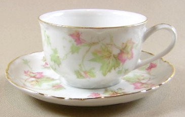 Make sure your browser can show photos and reload this page to see Hutschenreuther China Maple Leaf 7578/783 Cup and saucer set 2 1/8