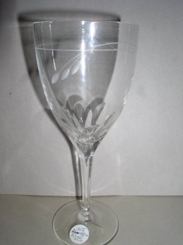 Make sure your browser can show photos and reload this page to see Gorham Crystal Arabesque Goblet, water  --8