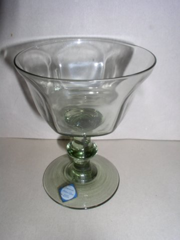 Make sure your browser can show photos and reload this page to see Lenox Crystal Antique - Pale Green Sherbet tall/champagne --5