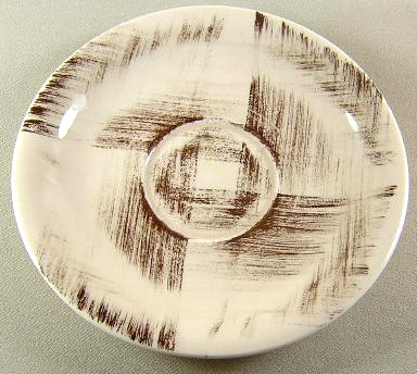 Make sure your browser can show photos and reload this page to see Metlox-Poppytrail-Vernon Pottery Barkwood Saucer only