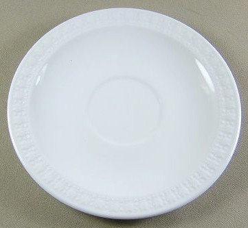 Make sure your browser can show photos and reload this page to see Corning China Sculptured Rim - Centura, Plain Edge Saucer only 6