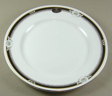 Make sure your browser can show photos and reload this page to see Aynsley & Sons South Pacific-Black Salad plate 8 1/4