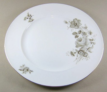 Make sure your browser can show photos and reload this page to see Johann Haviland China Twilight Rose  Dinner plate smooth 10 1/4