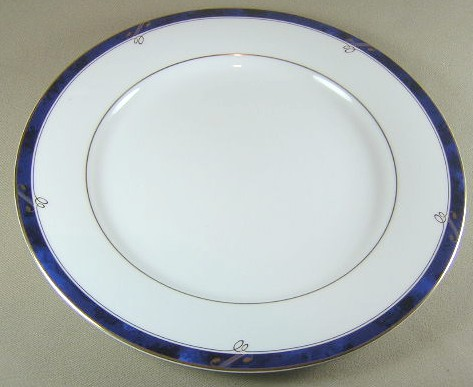 Make sure your browser can show photos and reload this page to see Nikko Dinnerware Sapphire 2723 Dinner plate 10 3/4