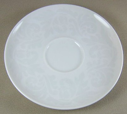 Make sure your browser can show photos and reload this page to see Easterling China Damask Saucer only 6 1/4