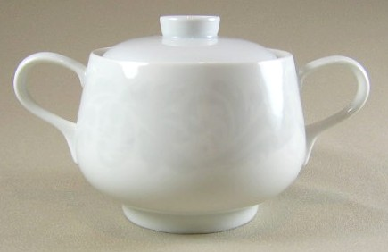 Make sure your browser can show photos and reload this page to see Easterling China Damask Sugar bowl with lid