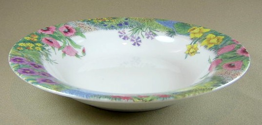Make sure your browser can show photos and reload this page to see Nikko Dinnerware Secret Garden 2701 Soup bowl, rim shape 8