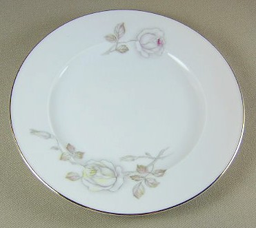 Make sure your browser can show photos and reload this page to see Johann Haviland China Sweetheart Rose  Bread and butter plate 6 1/8