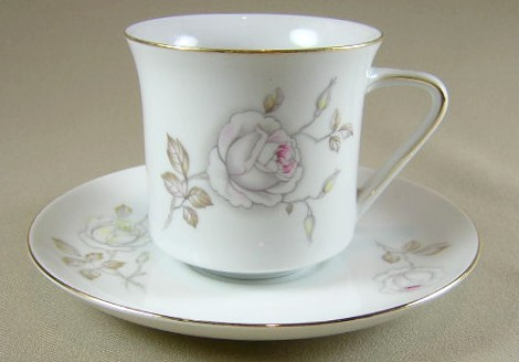 Make sure your browser can show photos and reload this page to see Johann Haviland China Sweetheart Rose  Cup and saucer set 3