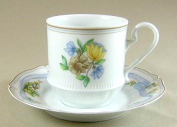 Make sure your browser can show photos and reload this page to see Haviland China Ribbon Cup and saucer set 3