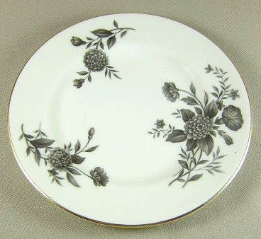 Make sure your browser can show photos and reload this page to see Pickard China Diana - Gray 1058 Bread and butter plate 6 1/2