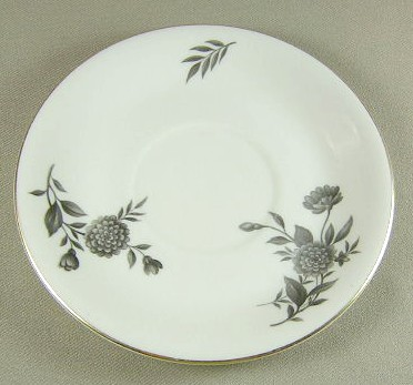 Make sure your browser can show photos and reload this page to see Pickard China Diana - Gray 1058 Saucer only 6