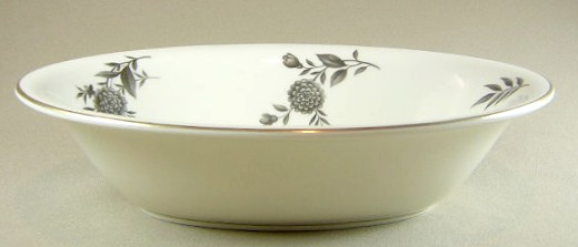 Make sure your browser can show photos and reload this page to see Pickard China Diana - Gray 1058 Oval vegetable 9 1/2