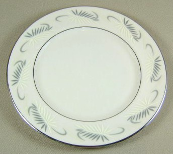 Make sure your browser can show photos and reload this page to see Flintridge China Continental White - Rim Bread and butter plate 6 1/4