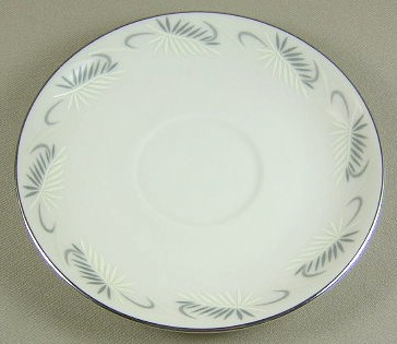 Make sure your browser can show photos and reload this page to see Flintridge China Continental White - Rim Saucer only 6 1/8