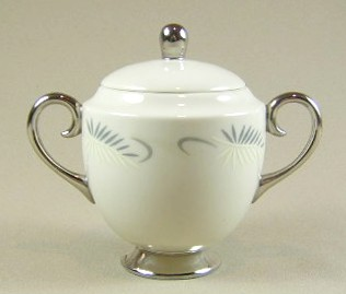Make sure your browser can show photos and reload this page to see Flintridge China Continental White - Rim Sugar bowl with lid