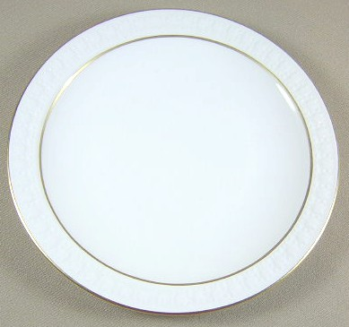 Make sure your browser can show photos and reload this page to see Corning China Sculptured Rim - Pyroceram, Gold Trim Bread and butter plate 6 3/8