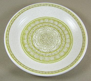 Make sure your browser can show photos and reload this page to see Franciscan China Hacienda - Green  Bread and butter plate 6 5/8