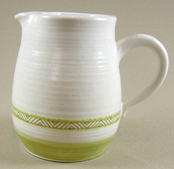 Make sure your browser can show photos and reload this page to see Franciscan China Hacienda - Green  Creamer