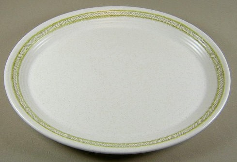 Make sure your browser can show photos and reload this page to see Franciscan China Hacienda - Green  Platter, small 11 1/2