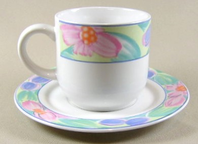 Make sure your browser can show photos and reload this page to see International - Sunmarc China Impressions 54 Cup and saucer set 3