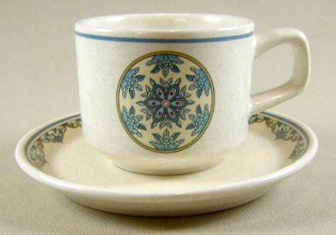 Make sure your browser can show photos and reload this page to see Lenox China Alhambra Cup and saucer set 2 5/8