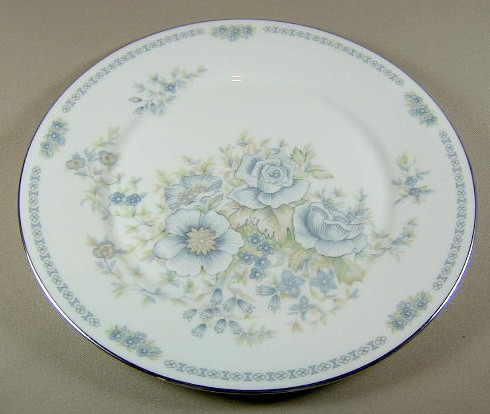 Make sure your browser can show photos and reload this page to see Oxford (Div Of Lenox) China Midsummer Dinner plate 10 3/4