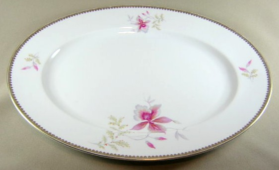 Make sure your browser can show photos and reload this page to see Rosenthal - Continental China Orchid 2521  Platter, medium 14 3/4