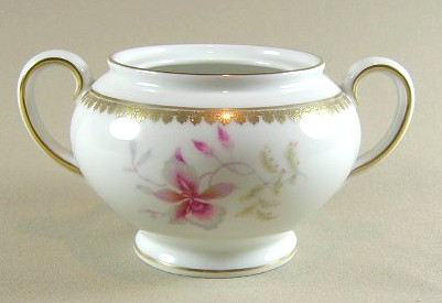 Make sure your browser can show photos and reload this page to see Rosenthal - Continental China Orchid 2521  Sugar bowl (no lid)