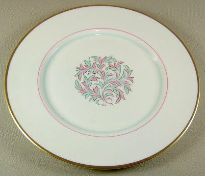 Make sure your browser can show photos and reload this page to see Franciscan China Rossmore Salad plate 8 1/4