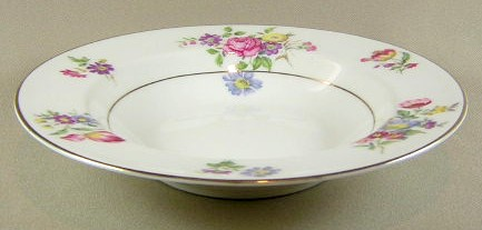 Make sure your browser can show photos and reload this page to see Haviland China Pasadena Soup bowl, rim shape 7 3/4