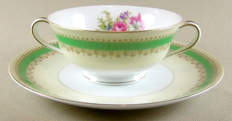 Make sure your browser can show photos and reload this page to see Noritake China Hyannis 3642 Cream soup bowl and stand bowl-4 1/2