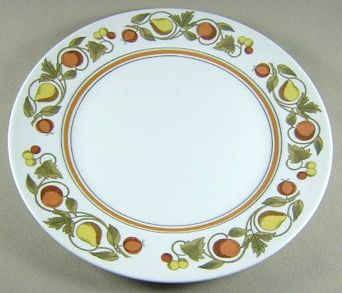 Make sure your browser can show photos and reload this page to see Franciscan China Pickwick Dinner plate 10 1/4
